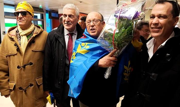 Une forte délégation pour accueillir Ahmed Haddag à l'aéroport de Paris-Orly