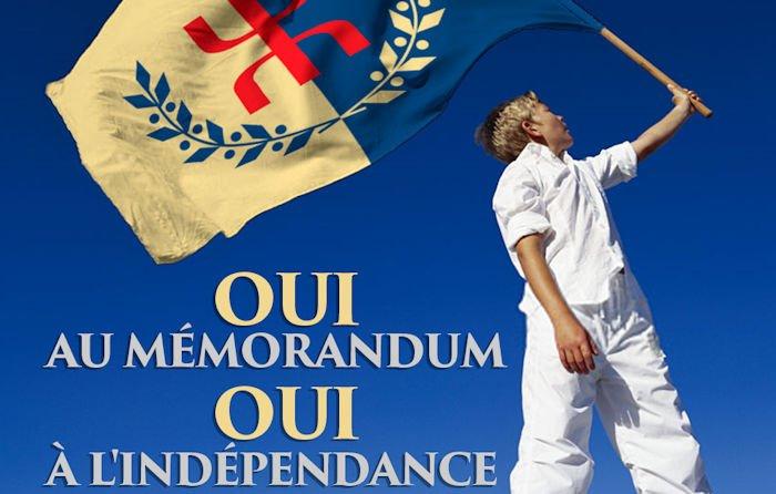 La marche de la diaspora Kabyle aura lieu le 16 Avril : «Oui au Mémorandum, Oui à l'Indépendance»