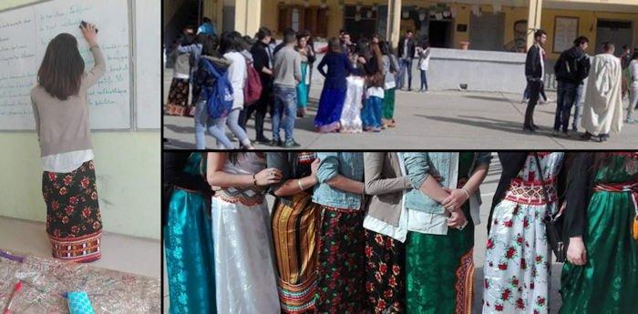 Une centaine de filles en robe kabyle au lycée d'Illilten hier et aujourd'hui