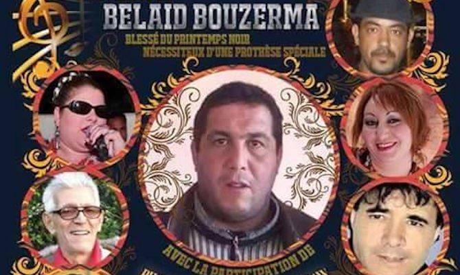 Événement : gala de soutien à Belaid Bouzerma, blessé du printemps noir