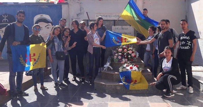 Une délégation du MAK-Anavad se recueille sur la tombe de Guermah Massinissa