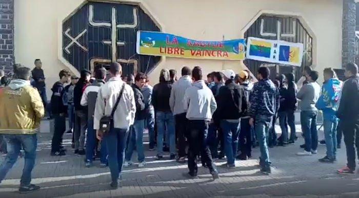 Rassemblement en cours à Raffour pour exiger la libération des militants arrêtés