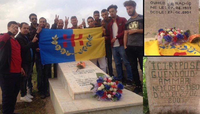 Le MAK-Anavad se recueille sur la tombe de deux martyrs du Printemps noir à Mεatqa