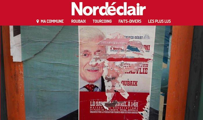 Le quotidien Nord Éclair revient sur l'annulation de la conférence du Président de l'Anavad à Roubaix
