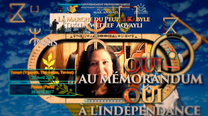 Le clip des marches du Peuple kabyle le 16 et le 20 Avril 2017 dévoilé