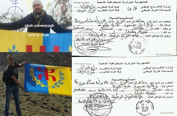Deux militants de Tizi Gheniff convoqués par la gendarmerie coloniale
