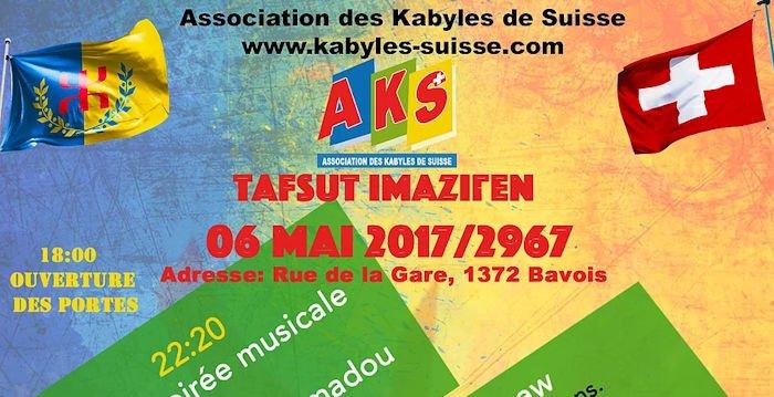 L'association des Kabyles de Suisse commémore le printemps amazigh et le printemps noir