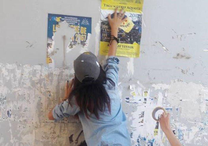 Marches du 16 et du 20 avril : La campagne d'affichage en images