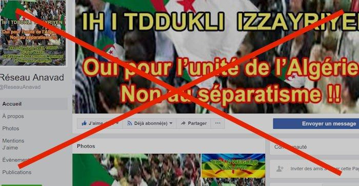 Le compte Facebook d'Ahmed Haddag et la page du Réseau Anavad piratés