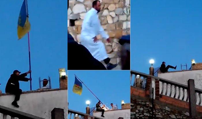 Tawrirt Meqran : vidéo des deux salafistes qui ont procédé à l'arrachage du drapeau kabyle (à la tronçonneuse)
