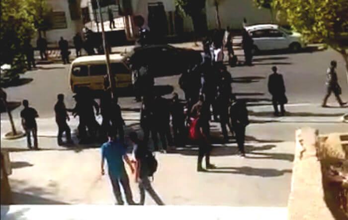 Vidéo de la l'arrestation et de l'agression de Rachida Ider par la police coloniale