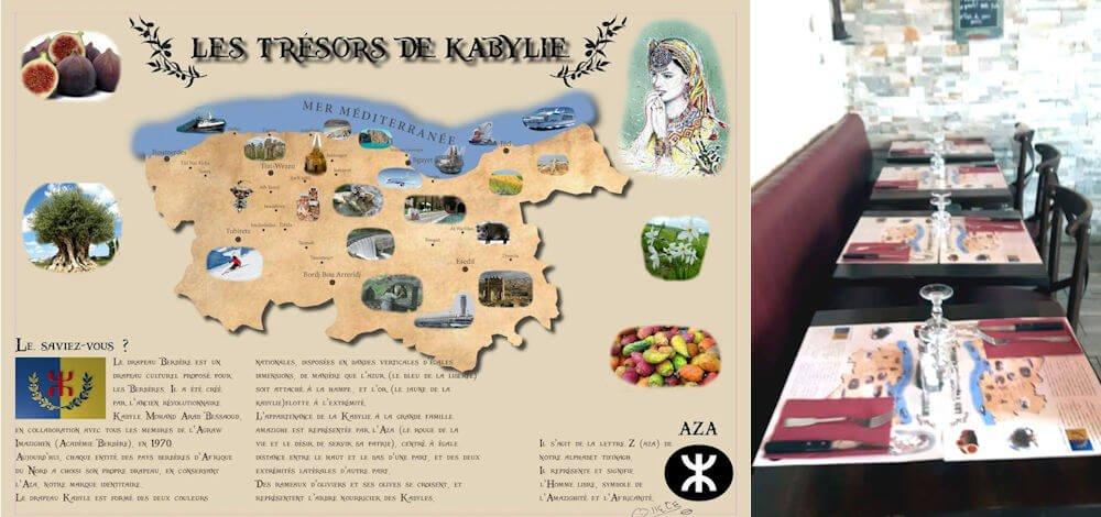 Sets de table «Trésors de Kabylie» : la petite idée innovante d'un militant de Paris