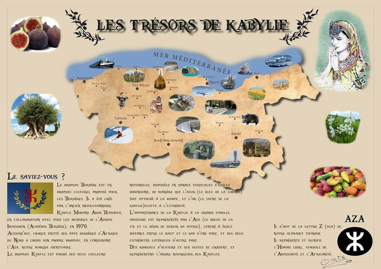 Carte De La Kabylie.Sets De Table Tresors De Kabylie La Petite Idee