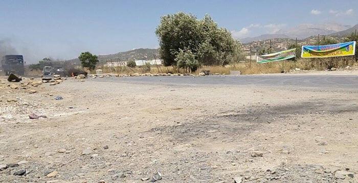 La RN 26 barrée à Rafour suite à l'arrestation de plusieurs centaines de militants du MAK-Anavad