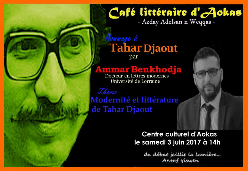 Agenda: Azday Adelsan n Weqqas rend hommage à Taher Djaout ce 03 juin