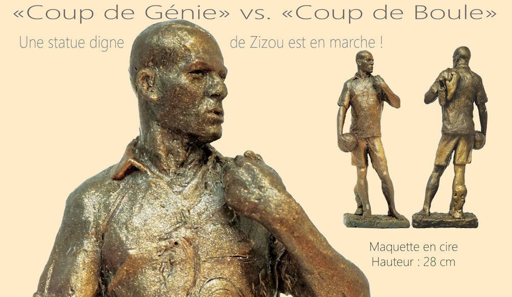 Le sculpteur Olivier Graine se lance dans le projet d'une «statue digne du génie de Zidane»