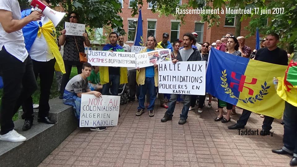 La communauté kabyle du Canada condamne la répression arbitraire du régime colonial algérien