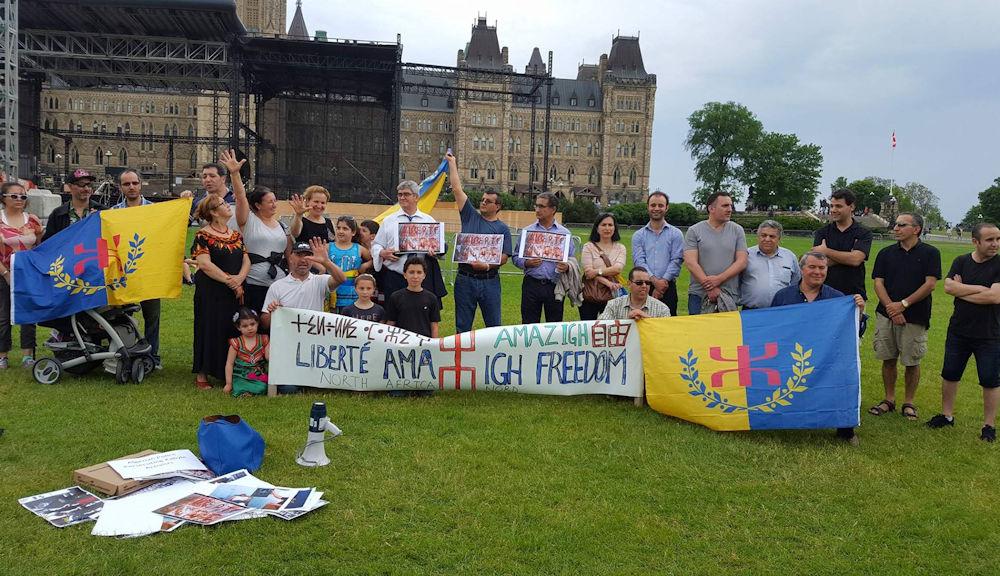 Ottawa : Rassemblement face au parlement canadien en soutien aux militants kabyles violentés par la police algérienne