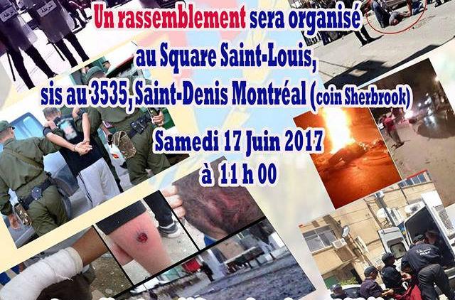 Rassemblement à Montréal ce 17 juin suite à la violence extrême en Kabylie