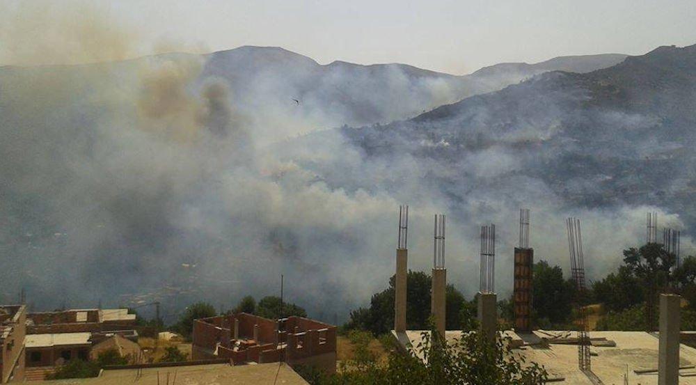 Ighram : les villages Lmechta, Ath Sellam et Tighilt Makhlouf envahis par un incendie dévastateur