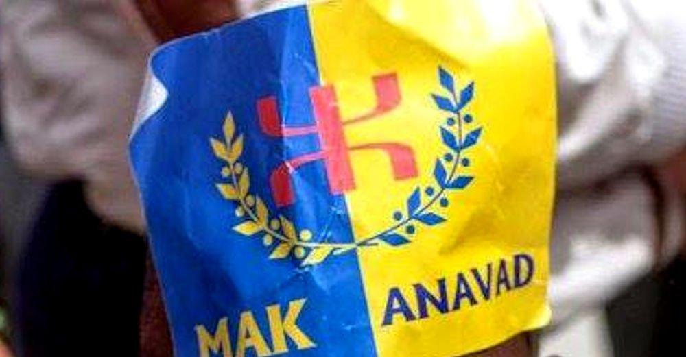 Un autocollant MAK-Anavad dans l'enceinte de la wilaya de Tizi Ouzou : la police coloniale ouvre une enquête