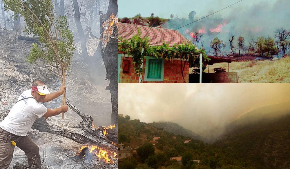 De nouveaux incendies menacent les habitations à Iɛeẓẓugen et Mekla