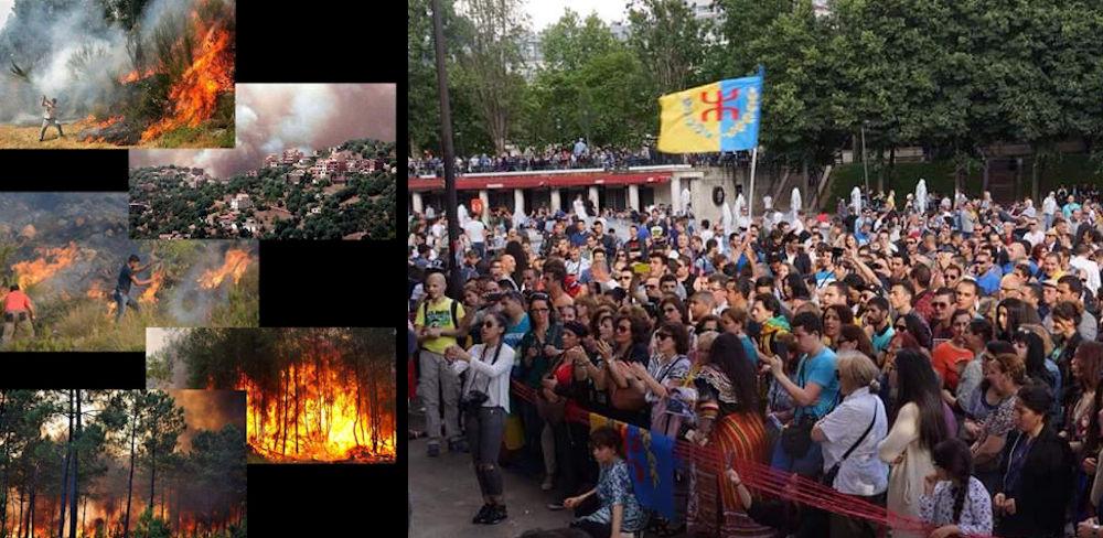 Incendies en Kabylie : grand rassemblement ce 22 juillet à la place Stalingrad (Paris)