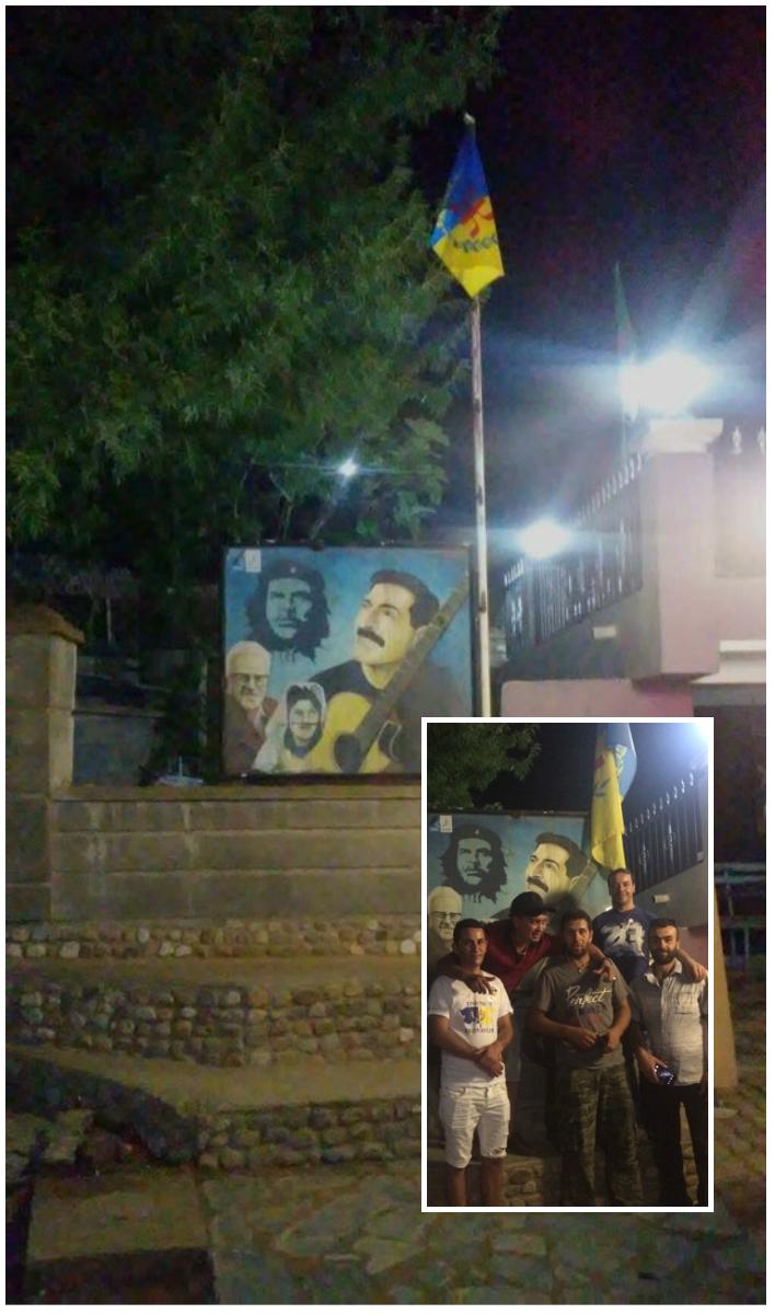 Lemsella : Le drapeau kabyle lâchement arraché par la gendarmerie coloniale