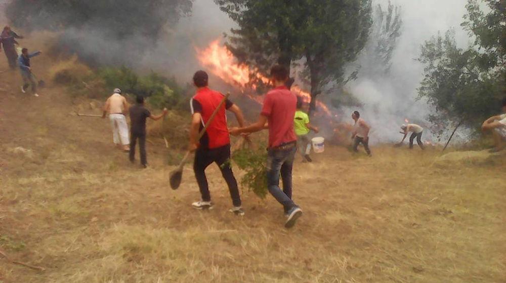 Sidi Aich : Les flammes menacent les habitations du village Tizi n Tifra (actualisé)