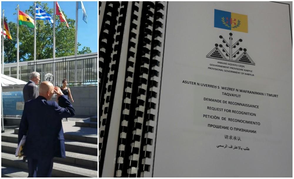 Dépôt à l'ONU du Mémorandum pour l'autodétermination de la Kabylie