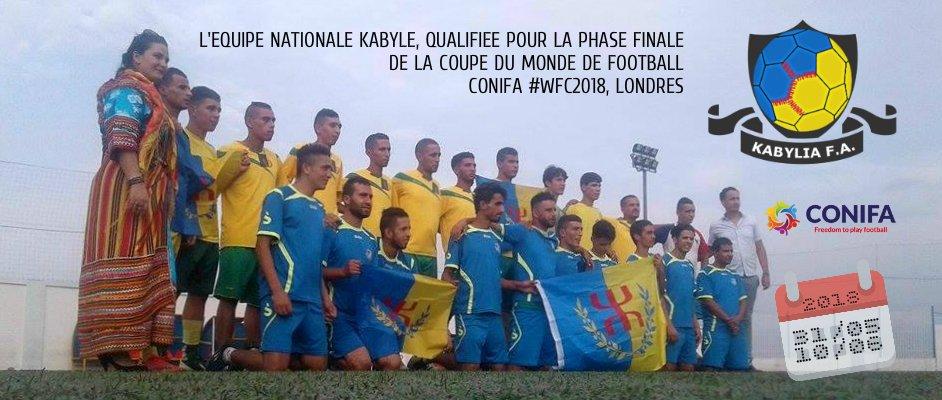 La Kabylie qualifiée pour la Coupe du monde ConIFA 2018