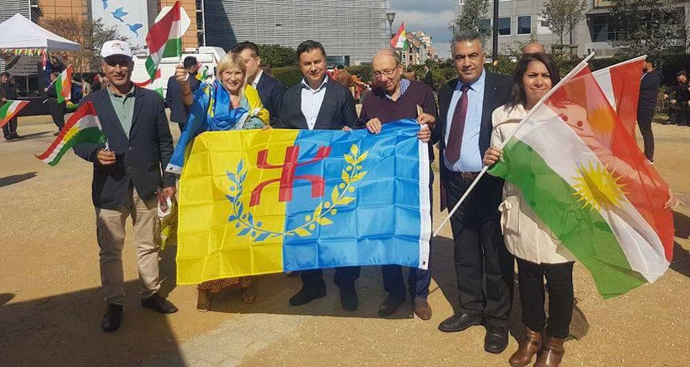 Bruxelles : les militants kabyles présents à la marche pour l'indépendance du Kurdistan