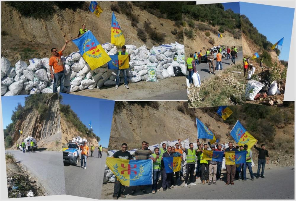 Action éco-citoyenne du MAK-Anavad Istiten : 300 sacs de déchets ramassés