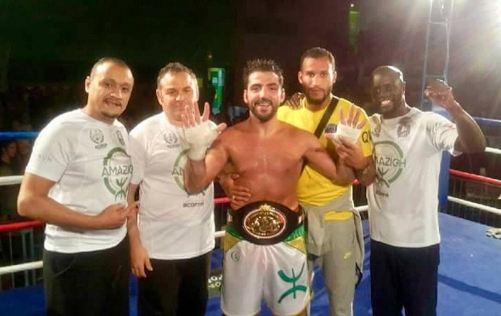 Karim Amazigh Achour est sacré champion de France de boxe poids moyens pour la 10e fois