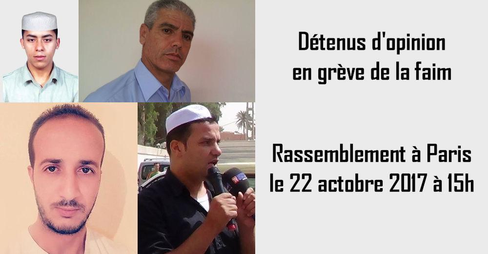 Paris : Rassemblement ce 22 octobre en soutien aux détenus d'opinion kabyles et mzabs