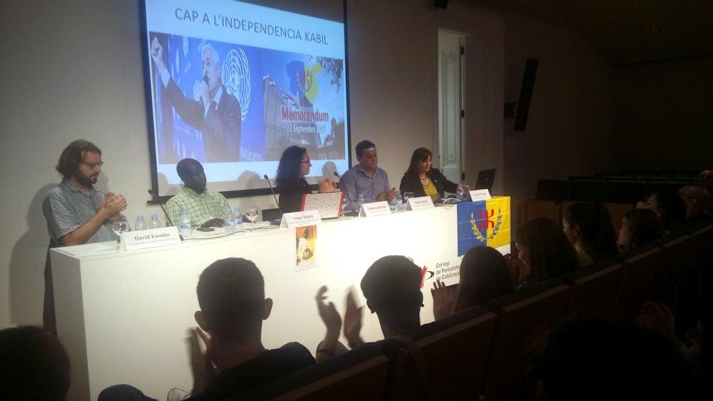 Catalogne : La cause kabyle exposée à la conférence des mouvements indépendantistes en Afrique