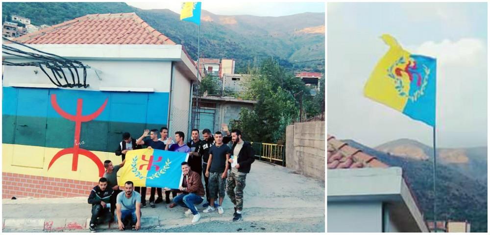 Drapeau kabyle : Acte de vandalisme à Agentur