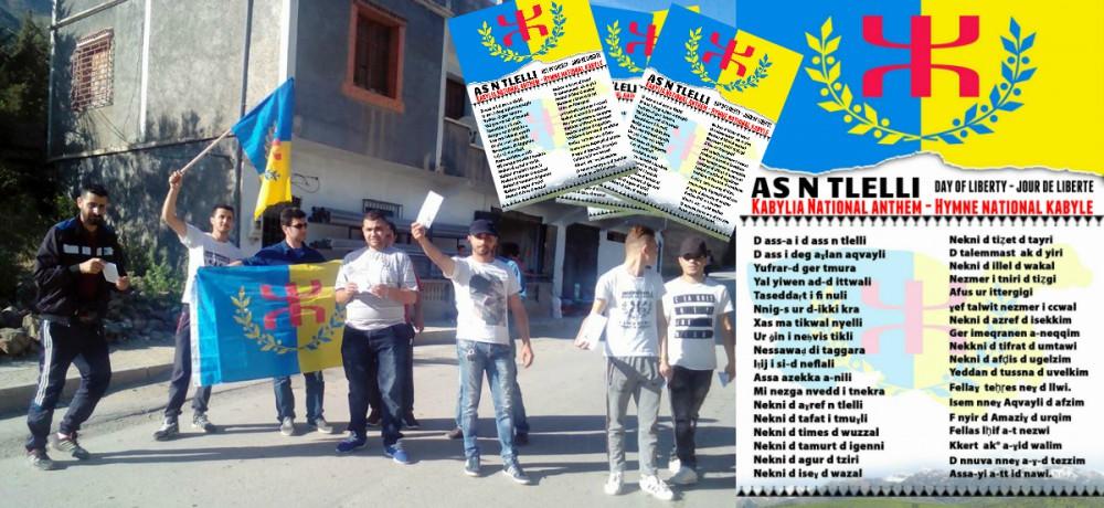 Des tracts de l'hymne national kabyle à Genduz