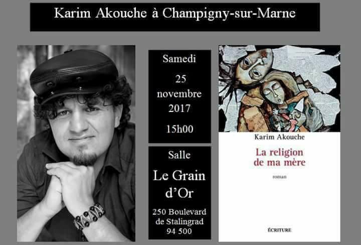 Karim Akouche ce samedi à Champigny-sur-Marne