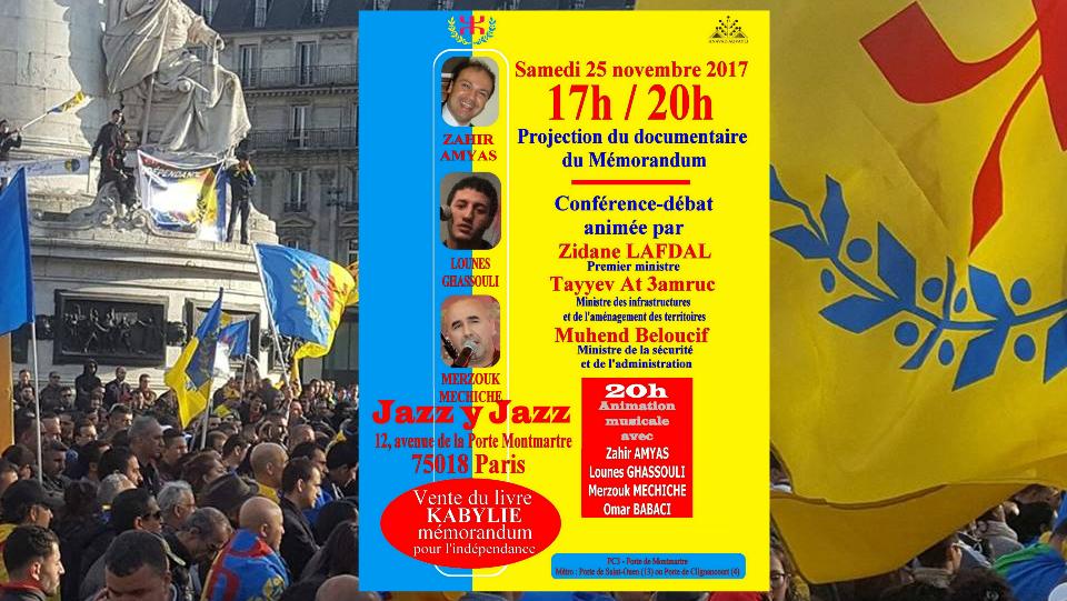 Conférence-débat sur le Mémorandum ce samedi 25 novembre