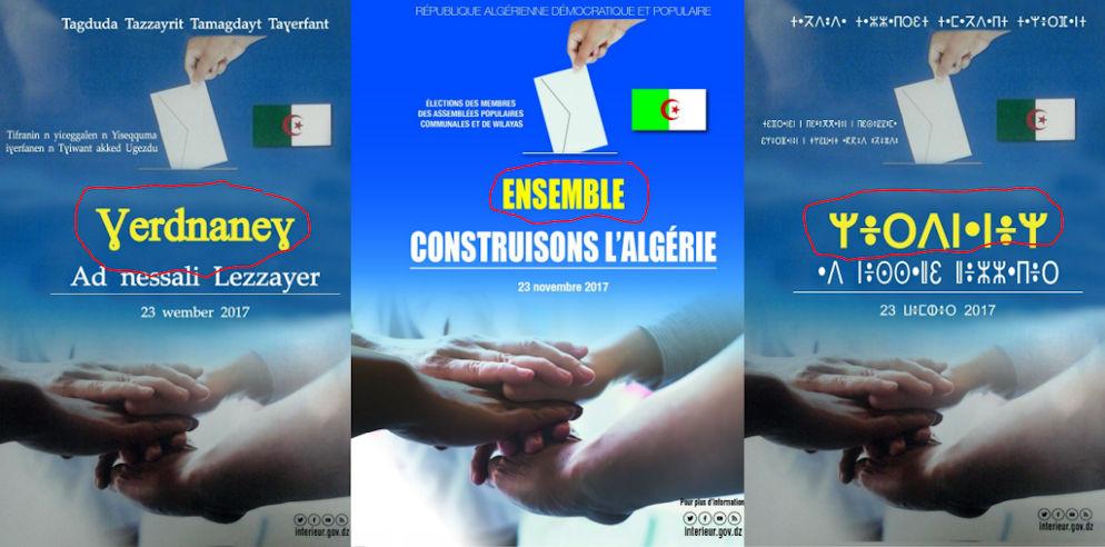 Insolite : les autorités algériennes inventent des mots en «Tamaziɣt» sur les affiches de ses élections communales