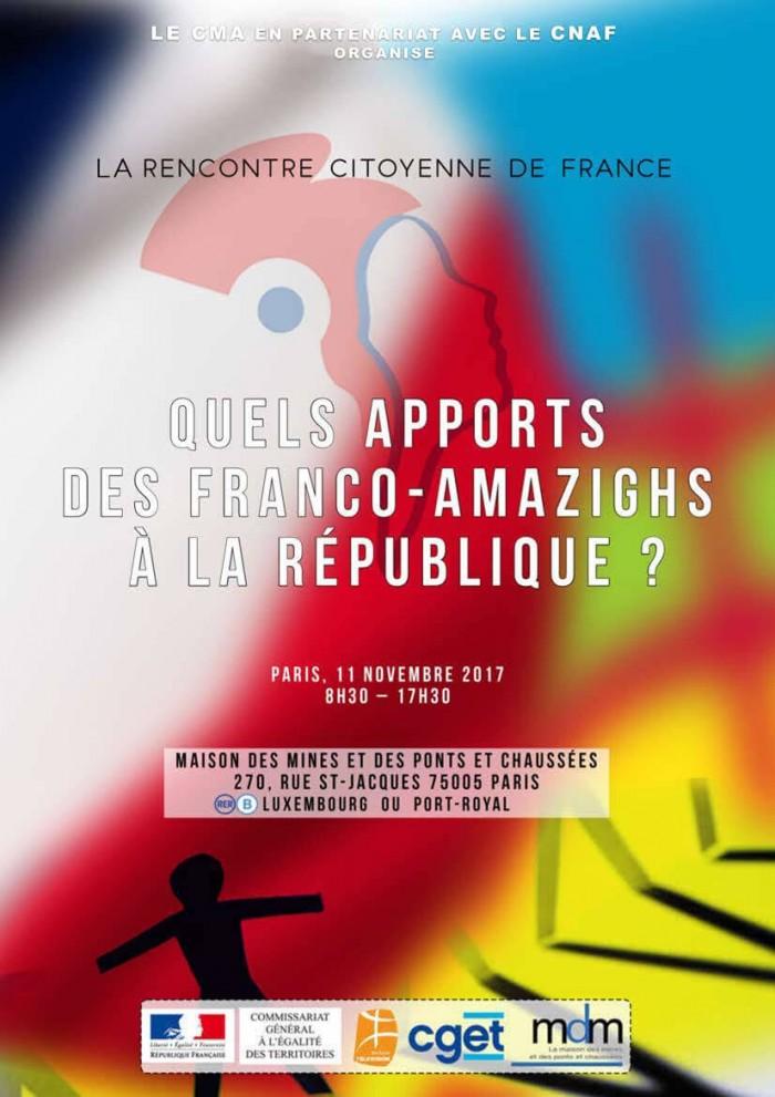 Rencontre citoyenne des Amazighs de France : Quels apports des Franco-Amazighs à la République ?