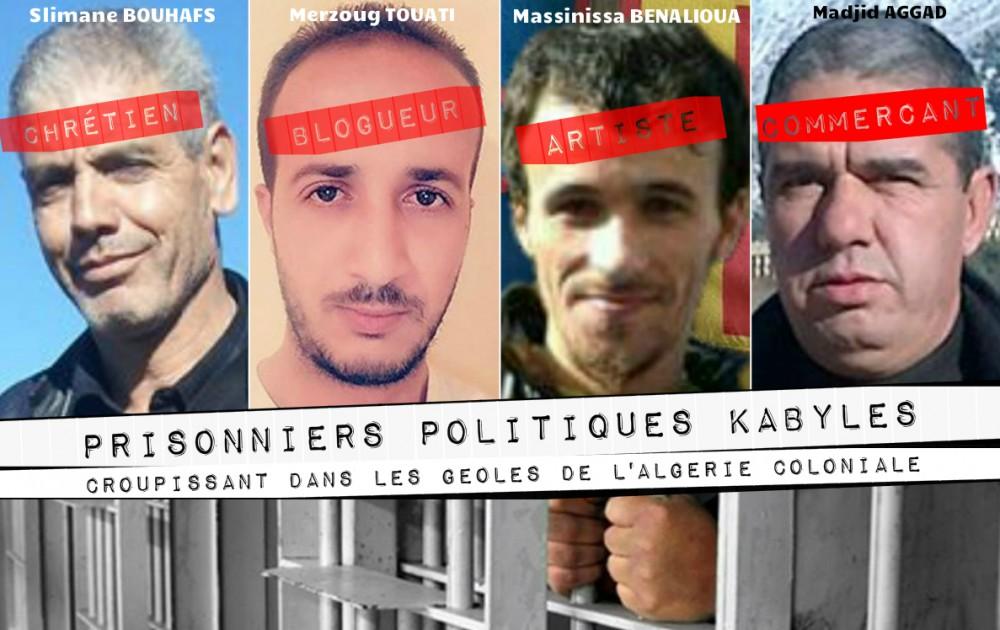 Rétrospective 2017 : Des prisonniers politiques Kabyles croupissent toujours dans les geôles de l'Algérie coloniale