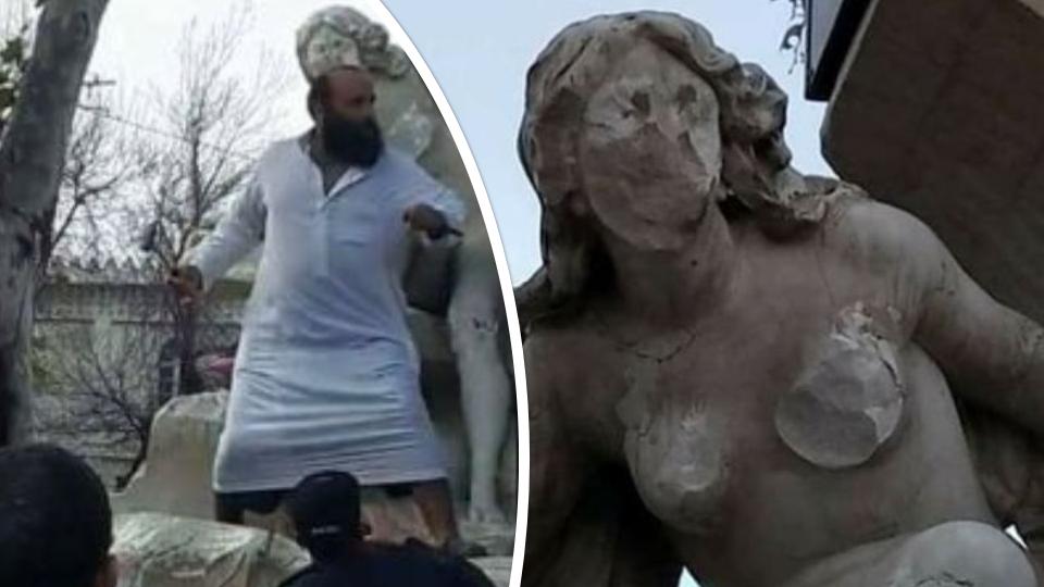 Un islamiste algérien dégrade une statue dénudée à Setif