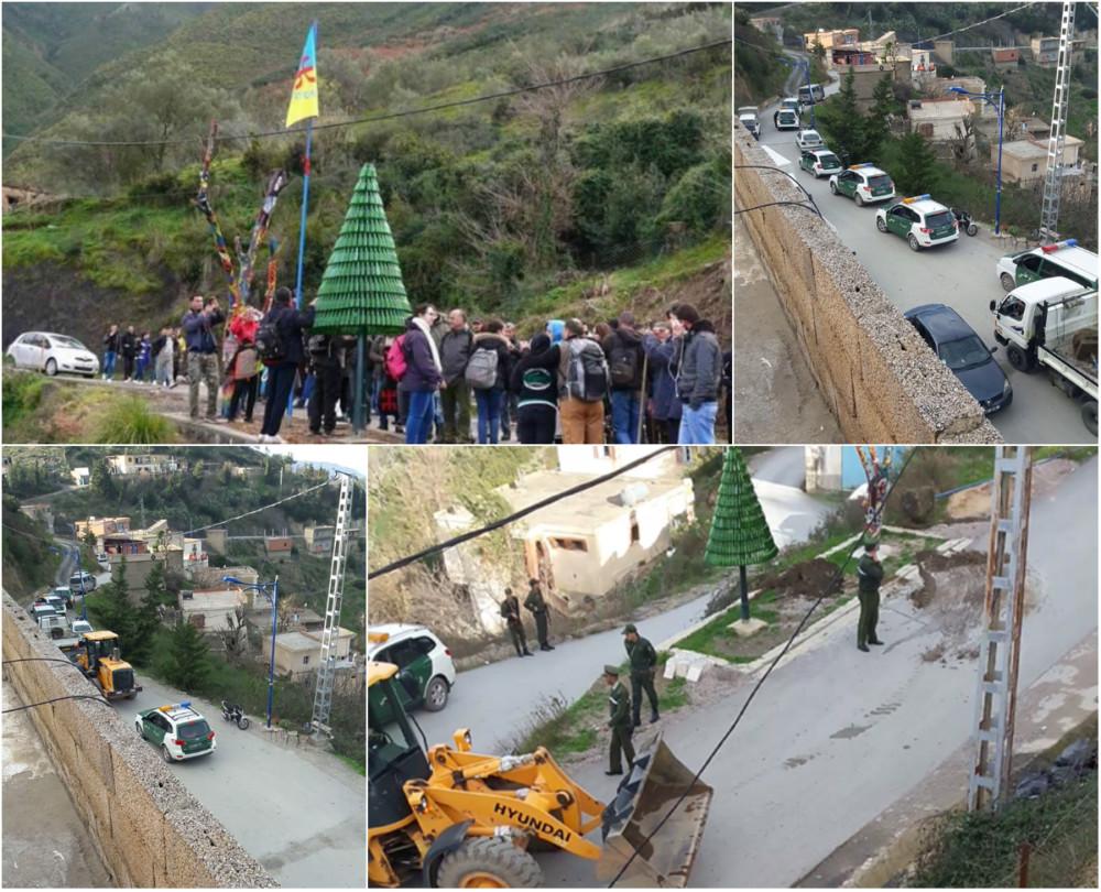 Drapeaux kabyles arrachés par la gendarmerie coloniale algérienne