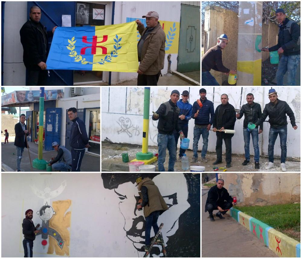 Lever du drapeau kabyle à Saharidj ce jeudi 11 janvier à 16h