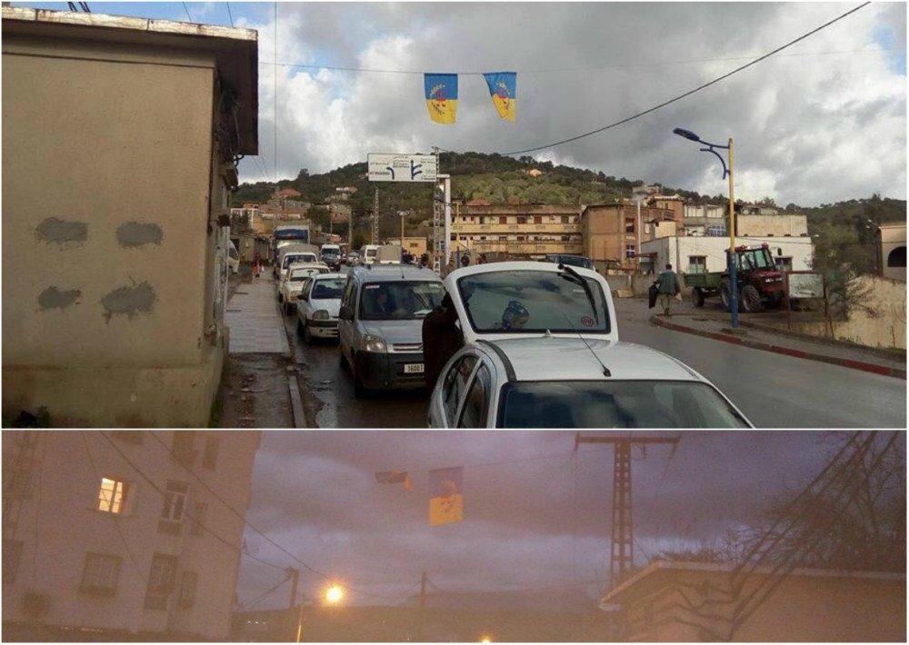 Lever de drapeaux kabyles à Tizi n Tlata