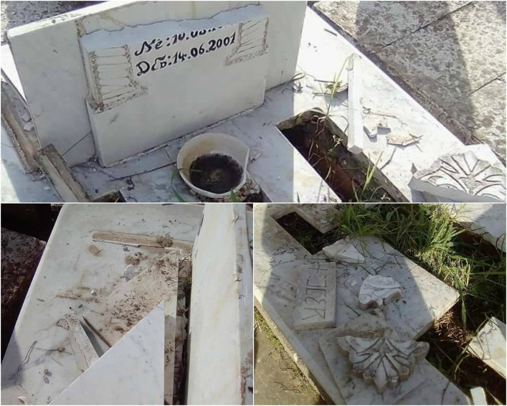 La tombe d'un martyr du Printemps noir saccagée