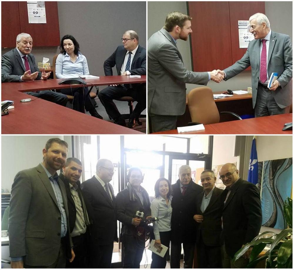 Rencontre du président Ferhat Mehenni avec la Chef du Bloc Québécois