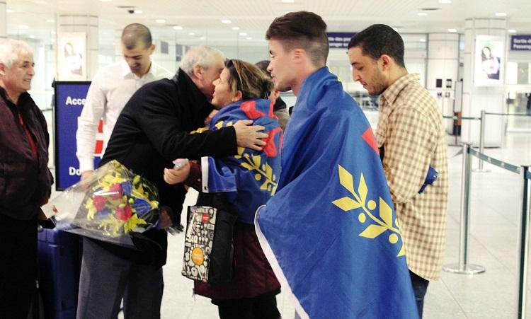 Arrivée du Président Ferhat Mehenni à Montréal